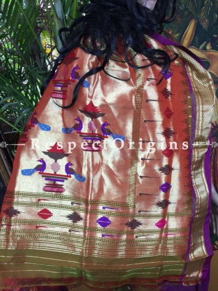 Buy Paithani Silk saree of classical magnificense at RespectOrigins.com