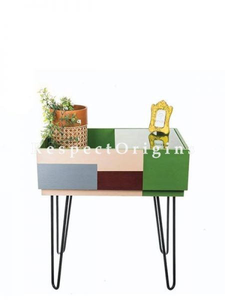 Buy Green Wood And Iron Side Table At RespectOrigins.com
