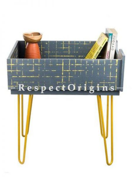 Buy Grey Wood and Iron Storage Table At RespectOrigins.com