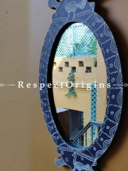 Buy One of a kind Mirror; Papier Mache; Traditional Aipan Motifs At RespectOrigins.com