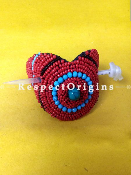 Buy Red & Blue Coral Beads Ladakhi Hair Clips at RespectOrigins.com