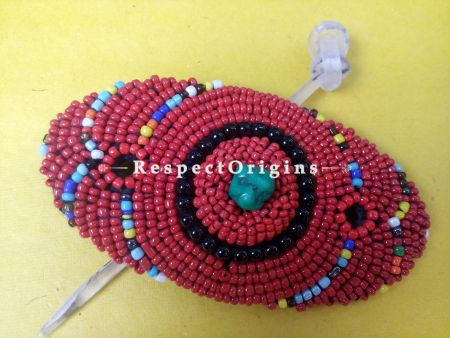 Buy Red & Black Coral Beads Ladakhi Hair Clips at RespectOrigins.com