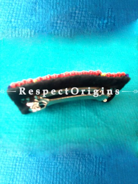 Buy Red & Yellow Coral Beads Ladakhi Hair Clips at RespectOrigins.com