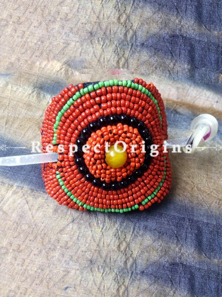 Buy Red & Green Coral Beads Ladakhi Hair Clips at RespectOrigins.com
