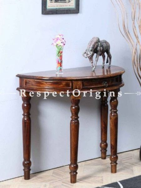 Buy Half Round Console Table; Wood At RespectOrigins.com