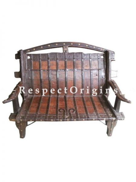 Buy Hand Carved Antique Finish Brown Wooden Sofa At RespectOrigins.com