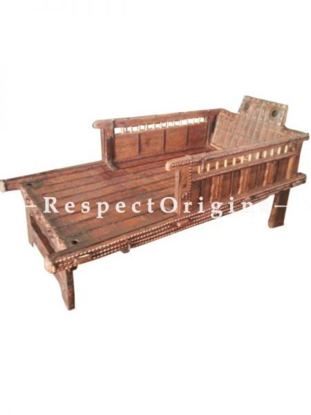 Buy Hand Carved Antique Finish Wooden Cart Bed At RespectOrigins.com