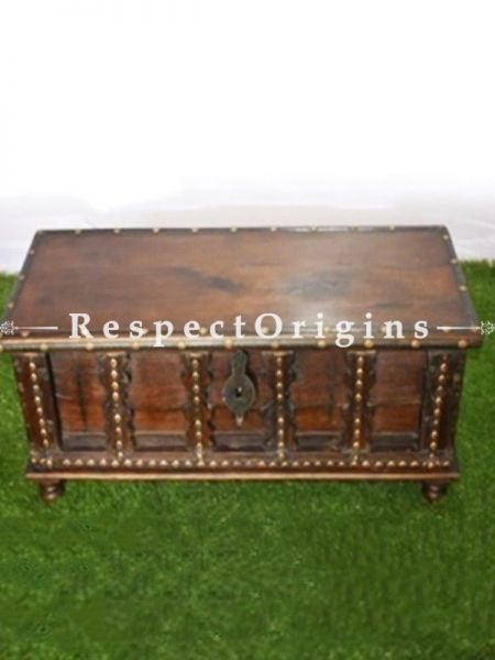 Buy Hand Carved Brown Vintage Finish Wooden Boxor Trunk At RespectOrigins.com