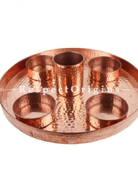 Buy Set of SixPieces Hand Hammered Copper Dish At RespectOrigins.com