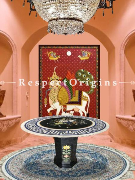 Buy Silk on Cotton Kashmiri Carpets; 3X3 At RespectOriigns.com