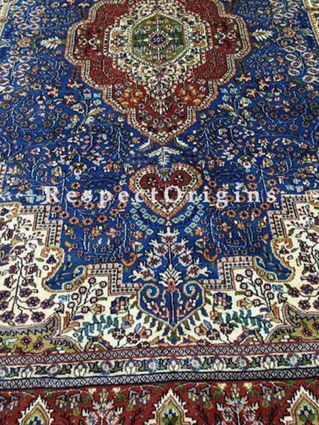 Buy Rich Kashmiri Silk Carpet; Multicolored; 8x11 At RespectOriigns.com