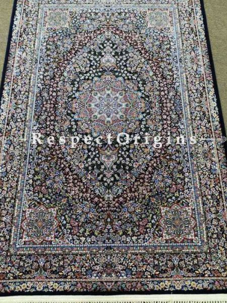 Buy Hand Knotted Pure Silk Kashmiri Carpet; 4x6 Ft At RespectOriigns.com