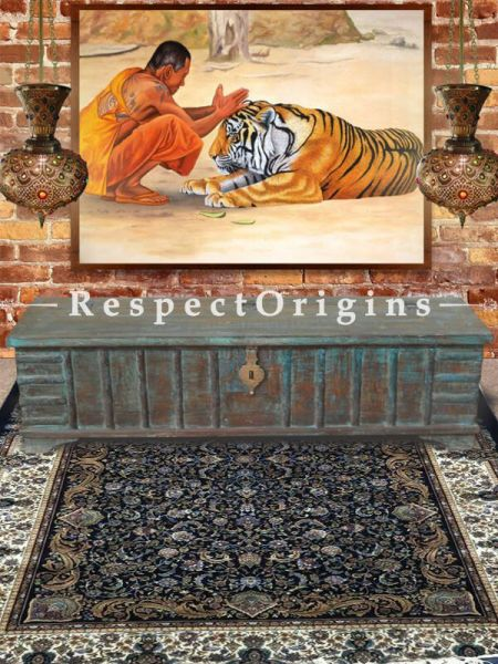Buy Gorgeous Tabrez Hand knotted Kashmiri Silk Carpet in 5x7 Ft. At RespectOriigns.com