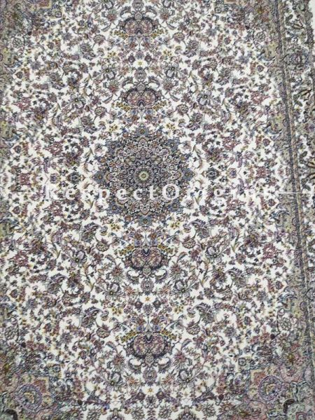 Buy Pure Silk Kashmiri Carpet Maroon 6x4 ft; Qum At RespectOriigns.com