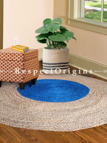 Hand Braided Floor or Door Mats;36 dia; RespectOrigins.com