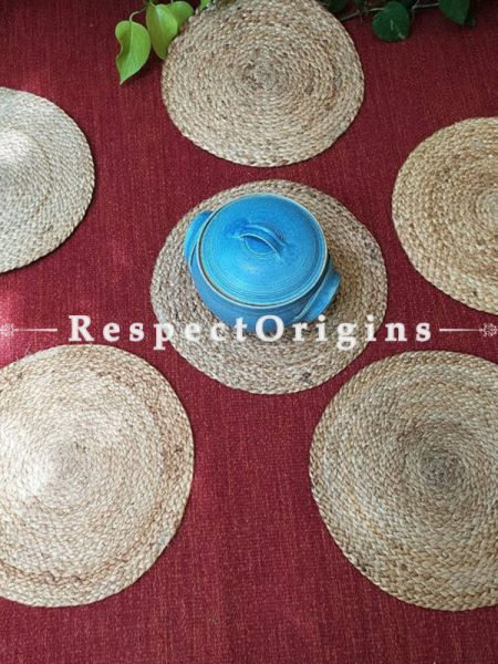 Saanjh, Handcrafted, Jute Coaster Set 9, RespectOrigins