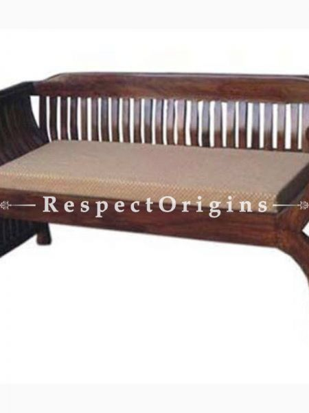 Buy Diane Handcrafted 2 Seater Sofa Cushioned Seat; Solid Wood At RespectOrigins.com