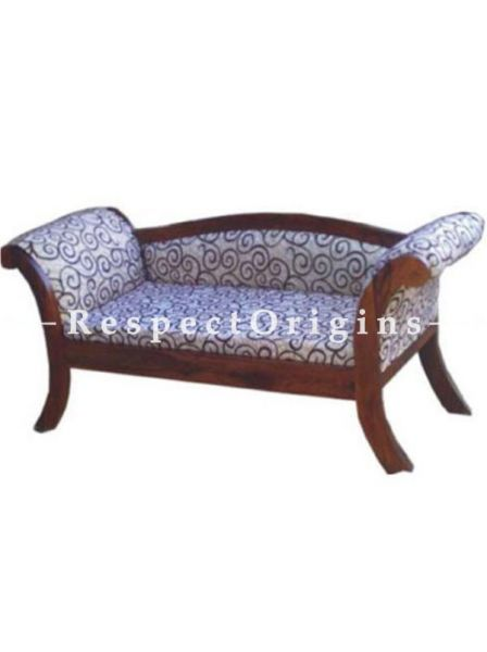 Buy Nyla Handcrafted Wood 2 Seater Upholstered Sofa Couch At RespectOrigins.com