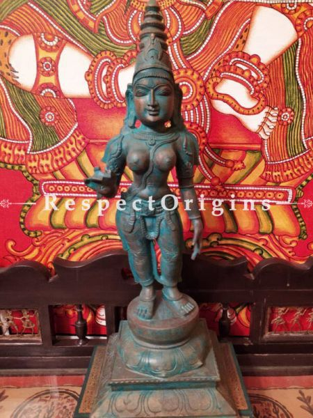 Buy Handcrafted Statue of Chandikeswari; Bronze; 18 Inches At RespectOrigins.com