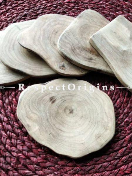 Set of 6 Coasters; Vintage looking Wooden Coaster; Handmade; RespectOrigins