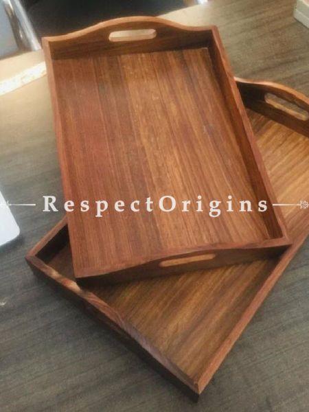 Buy Set of 2 Wooden Trays At RespectOrigins.com