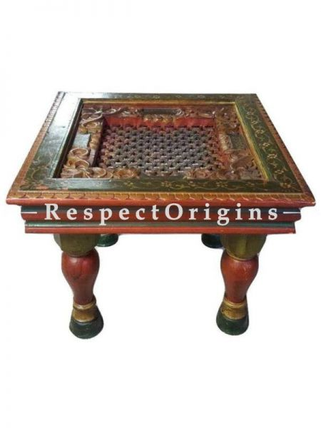Buy Wooden Carved traditional Rectangular Coffee Table At RespectOrigins.com