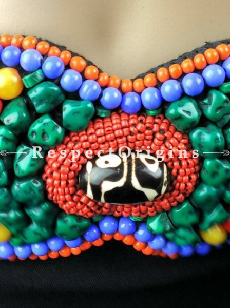 Exquisite Women's Boho Exotic Ladakhi Bead-Work Belts; Multi-color; Handcrafted; RespectOrigins.com