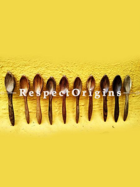 Handmade Spoons; Set of 10; Wooden, RespectOrigins.