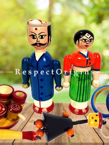 Buy Joker, Keychain and Kitchen Set; Channapatna Toys; Safe and non-toxic Colors At RespectOrigins.com