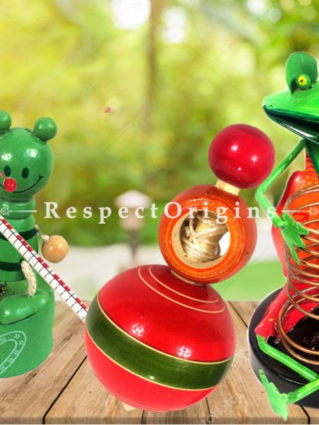 Buy Two Joker and Lattoo Set; Channapatna Toys; Safe and non-toxic Colors At RespectOrigins.com