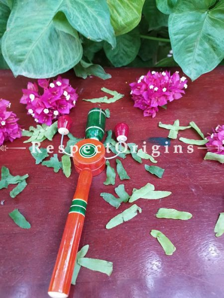 Buy Childrens Wooden Rattle; Channapatna Toys At RespectOrigins.com