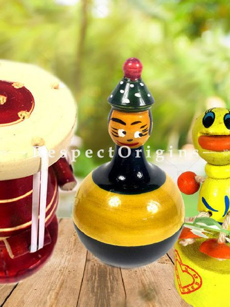 Buy and Drum; Channapatna Toys; Safe and non-toxic Colors At RespectOrigins.com