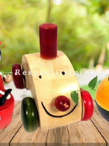 Buy Joker and Train engine Set; Channapatna Toys; Safe and non-toxic Colors At RespectOrigins.com