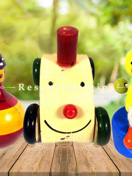 Buy Two Joker and Chuck Chuck engine Set; Channapatna Toys; Safe and non-toxic Colors At RespectOrigins.com
