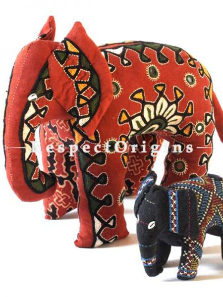 Buy Elephant Toys Handmade And Hand Embroidered On Naturally Dyed Cotton at RespectOrigins.com