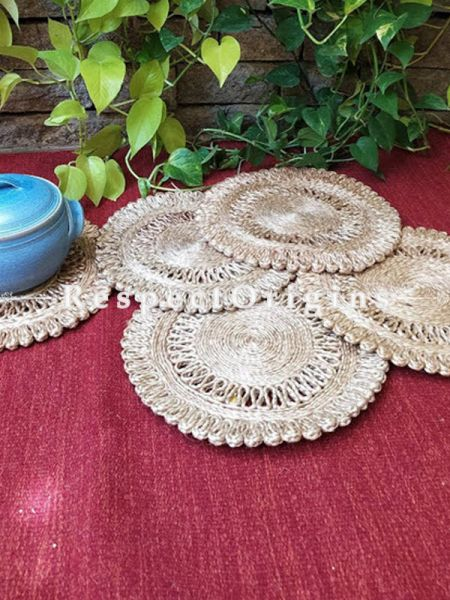 Ecofriendly, Handmade, Set 5 Natural organic Jute Place Mats
