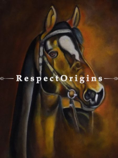 Handpainted Art Horse Oil On Canvas 24In X 32In at RespectOrigins.com