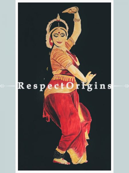 ExclusiveHandpainted Art Indian women painting Acrylic on Canvas 32in X 58in Unframed at RespectOrigins.com