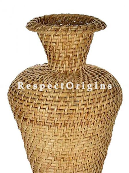 Handmade|Eco friendly|Organic|Handwoven Cane Flower Vase|RespectOrigins