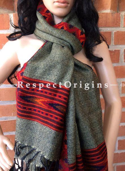 One of a kind; Handwoven Kullu Stole; Wool; Designer base; RespectOrigins.com