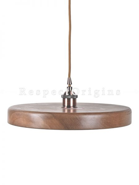 Buy Walnut Wood Hanging Lamps; 2 Inches Height, 15 Inches Width  at RespectOrigins.com