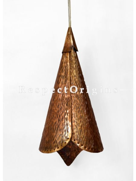 Buy Copper Embossed Pendent Hanging Lights; 6 Inches Height, 6 Inches Width  at RespectOrigins.com