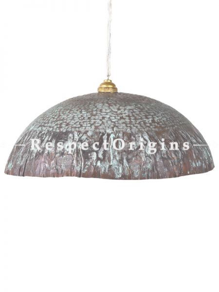 Buy Copper Embossed Patina Pendent Wrinkle Hanging Lights; 5 Inches Height, 12 Inches Width  at RespectOrigins.com