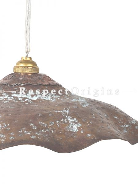 Buy Copper Embossed Patina Pendent Waxy Hanging Lights; 4.5 Inches Height, 10 Inches Width  at RespectOrigins.com