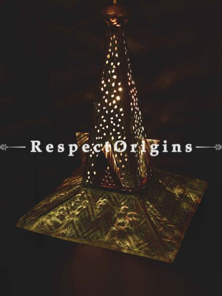 Buy Copper Embossed Patina Shah Hamdan Hanging Lights; 24 Inches Height, 15 Inches Width  at RespectOrigins.com