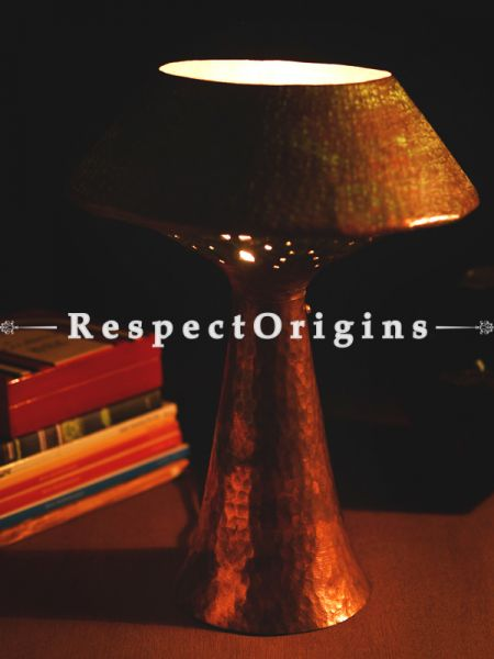 Buy Copper Embossed Table Lamp; 13 Inches Height, 10 Inches Width,Shade  Not Included  at RespectOrigins.com