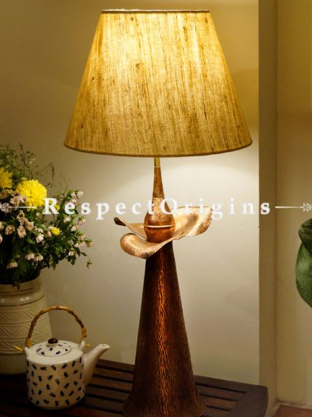 Buy Copper Embossed Reddish Brown Table Lamp; 24 Inches Height, 7 Inches Width. Shade Not Included  at RespectOrigins.com