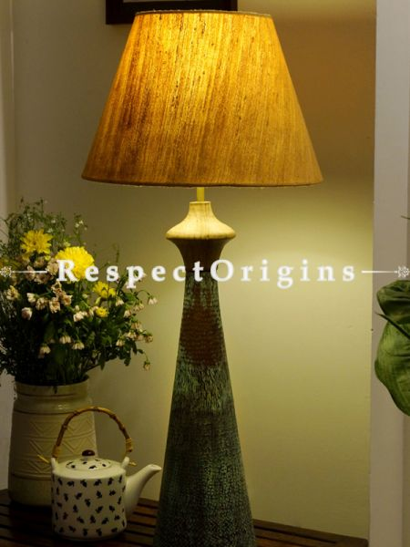 Buy Copper Embossed Earthy Green Patina Table Lamp; 24 Inches Height,7 Inches Width,  at RespectOrigins.com