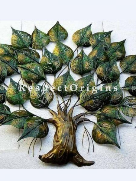 Buy Handcrafted Bodhi Tree; Artisanal Wall Mural with Lighting. 24x24in At RespectOrigins.com