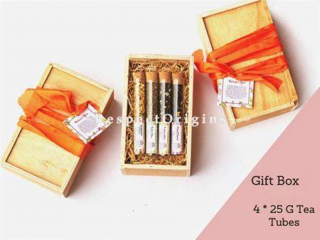 Well Gift Box- 4 X 25 Gms Tea Tubes; RespectOrigins.com